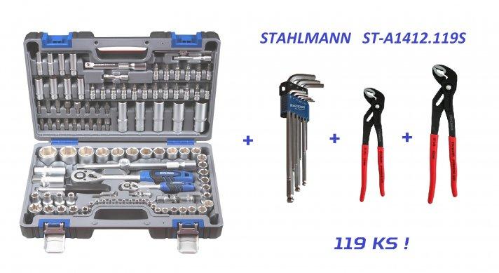 ST-A1412.119S akční sestava nářadí, 119 ks