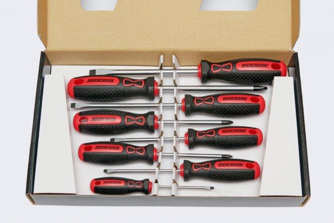 STAHLMANN professional tools ST 701.08 SADA PLOCHÝCH A PH ŠROUBOVÁKŮ ST 701.08 ST701.08