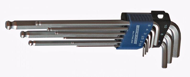 STAHLMANN professional tools ST 7700.09S  SADA INBUS KLÍČŮ PRODLOUŽENÝCH, S KULIČKOU ST 7700.09S ST7700.09S